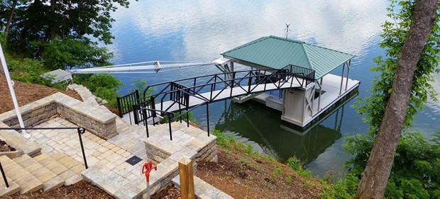 Boat Dock Building In Danville